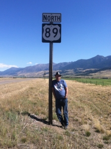 On Route 89 along the Yellowstone River